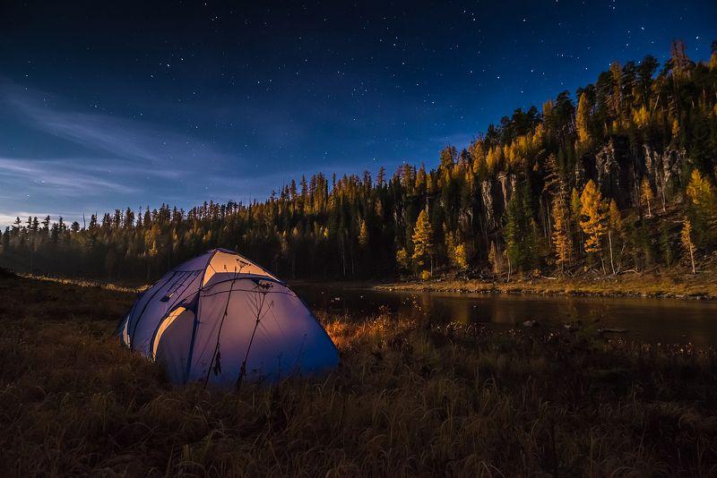 эвенкия, звезды, ночь, путешествия, сибирь В самом центре Сибириphoto preview