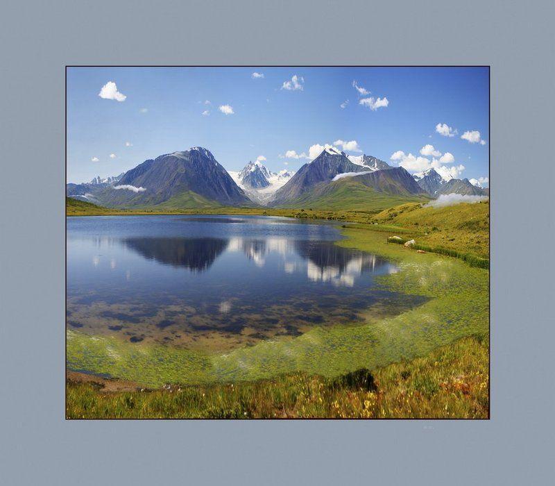 укок, озеро, южный алтай. Укок. Озеро у подножия Южного Алтая.photo preview