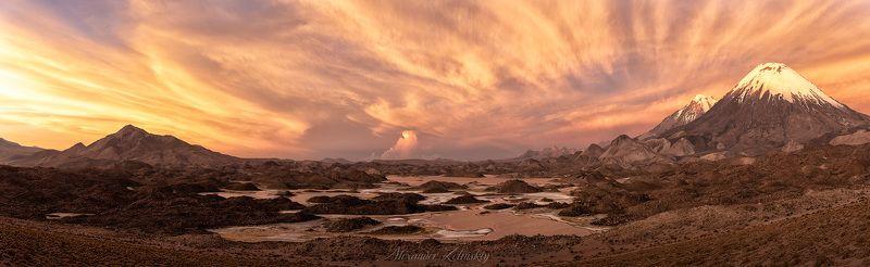 чили, закат, лагуна котакотами Симфония закатаphoto preview