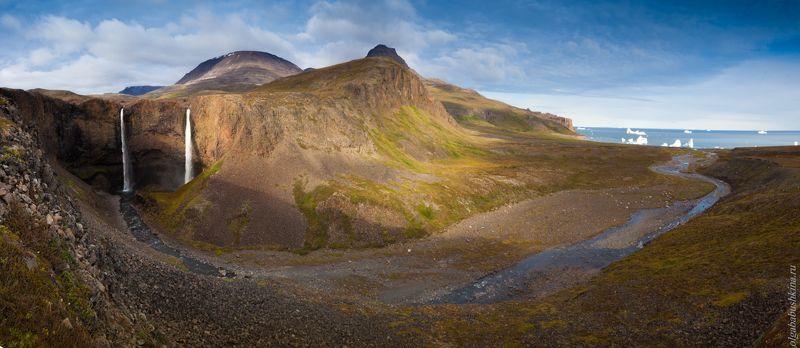 Гренландия, Исландия, водопад, айсберги, горы Два братаphoto preview