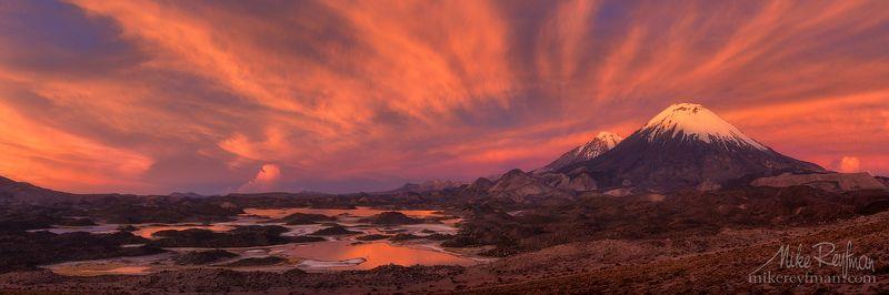pomerape, parinacota, lauca, chile, nevados de paychata, cotacotani lagoon Nevados de Payachataphoto preview