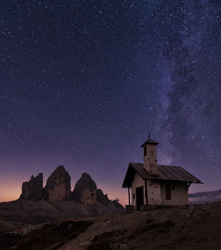 alps, dolomites, italy, доломиты, горы Ночь в Доломитахphoto preview