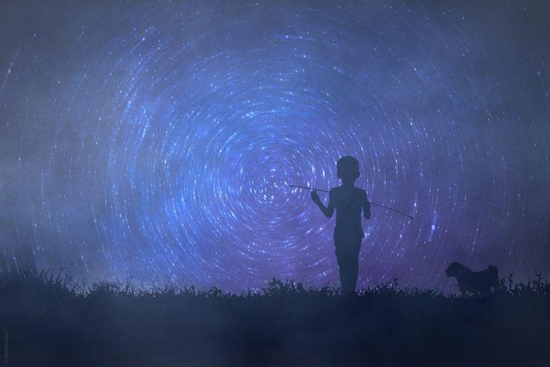 мальчик, небо, ночь, звезды Маленький принц (с)photo preview