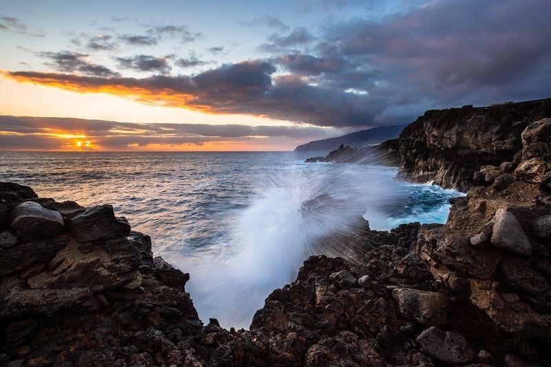 море, волна, вода, закат, брызги Splashphoto preview