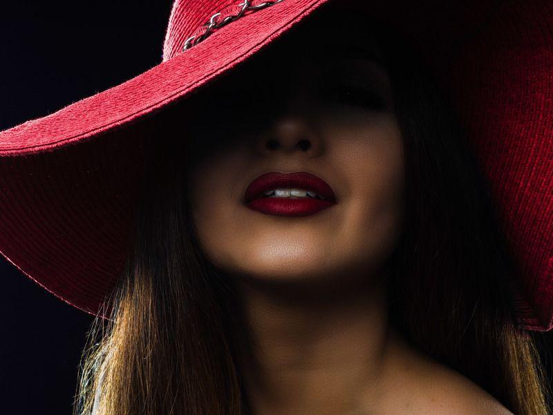 Шляпа, губы, рубиновый, красный Валерияphoto preview