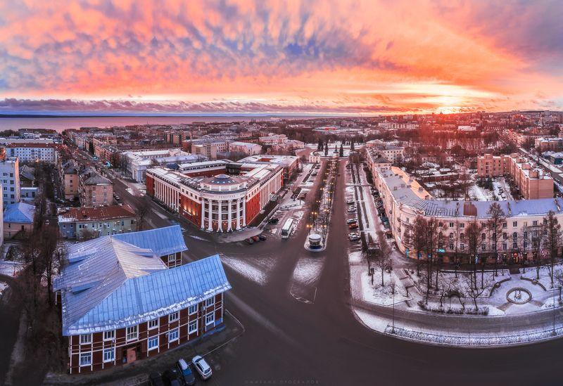 Квадрокоптер, аэросъемка, город, петрозаводск Петрозаводскphoto preview