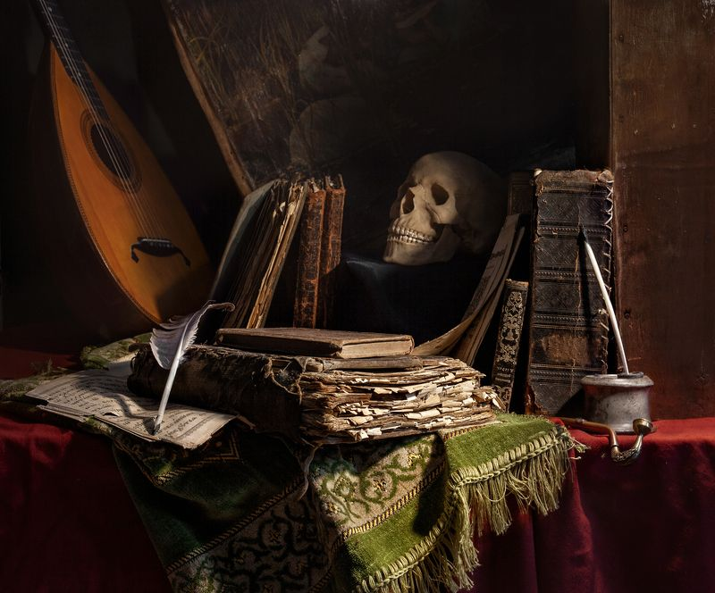 натюрморт, still life, vanitas, book, old book, still life with old books, evgeny kornienko Vanitasphoto preview
