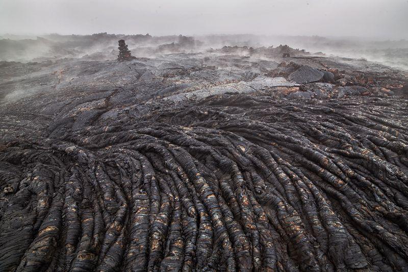 камчатка,россия,вулкан,лава,пейзаж,туман,природа Прогулка по Мордеруphoto preview