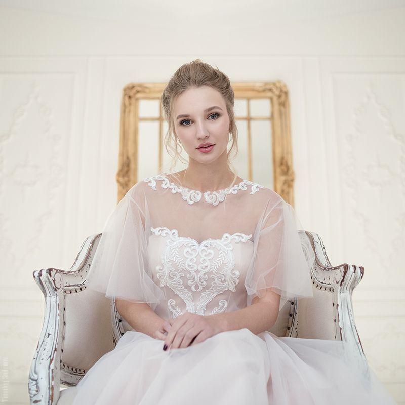 девушка, невеста, окно, зал, bride, милая, cute Sofiphoto preview