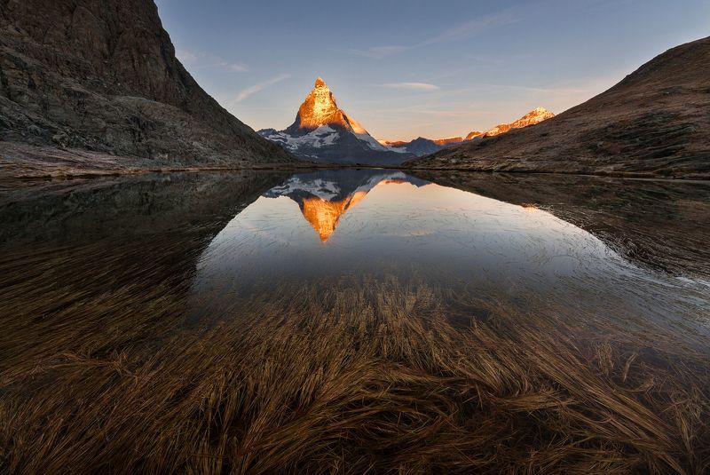 mountains, matterhorn, swiss, sunrise, landscape, nature, travel, autumn, peak Hot Peakphoto preview