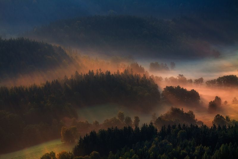 landscape,canon,mist,light,autumn As Far As The Eye Could See.photo preview