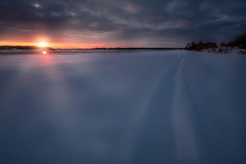 волга, пейзаж, зима, снег, лед, утро, рассвет, холод, мороз Волга под снегомphoto preview