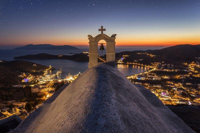 ios, greece, island, sunrise, night, landscape, church, Ios Island, Greecephoto preview