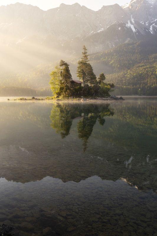 Рассвет, озеро, утро Рассвет photo preview