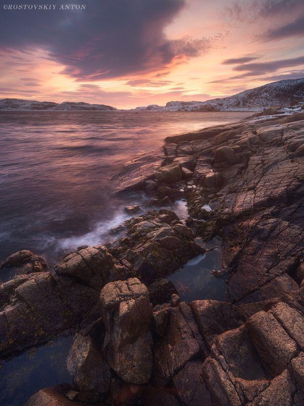 Териберка, фототур, мурманск, аолдень, зарево, море,  Заполярный полденьphoto preview