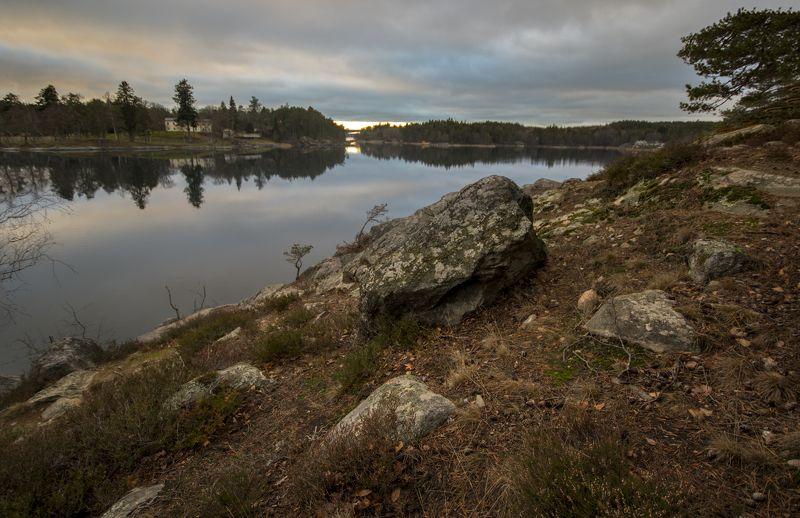 швеция Озеро вечернее 3photo preview