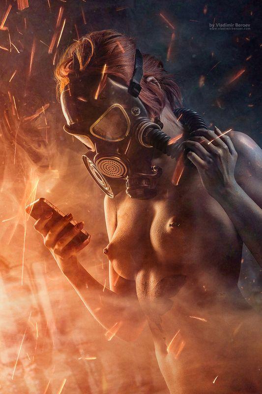 арт-ню, владимир бероеа, vladimir beroev, ню, nude, boduart, фотосессия, beauty, бьюти, бодиарт, голая, naked, фотосет Five Finger\'s Revolution. Scene 9. Give me the Codephoto preview