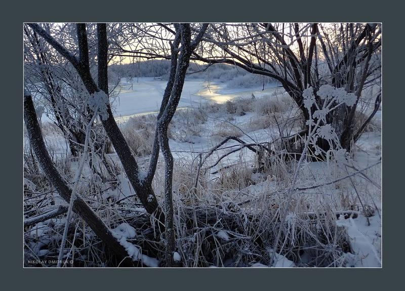 пейзаж день мороза. Холмогоры. 2018photo preview