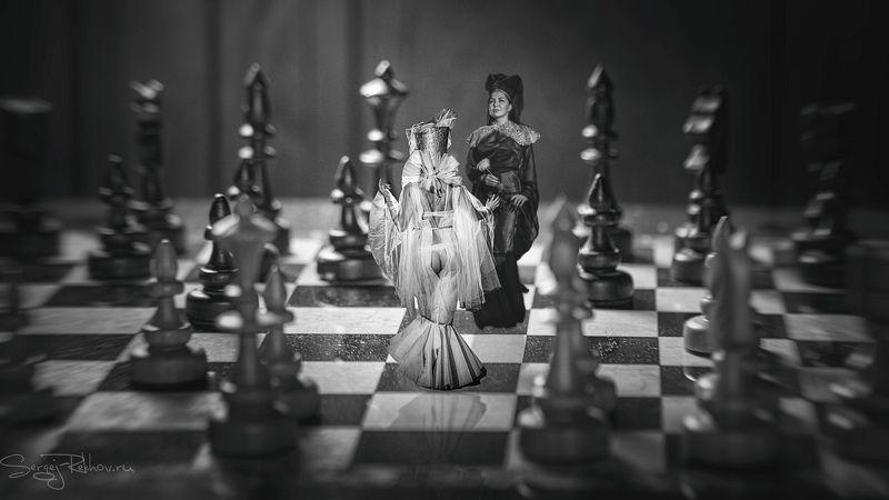студия цитадель, портрет, шахматы. девушка, portrait Шахматыphoto preview