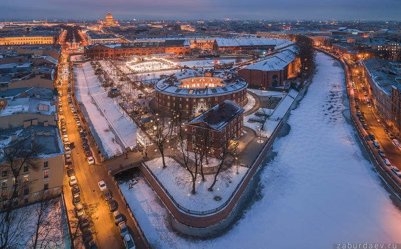 россия, петербург, санкт-петербург, питер, спб, вечер, зима, город, архитектура Новая Голландияphoto preview