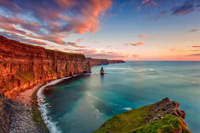 longexposure, ireland, cliffs of moher, sunrise, sunset, landscapes Cliffs of Moherphoto preview