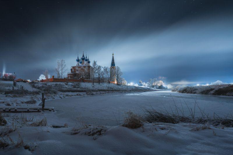 ночь, природа, река, мороз,дунилово Морозной ночьюphoto preview