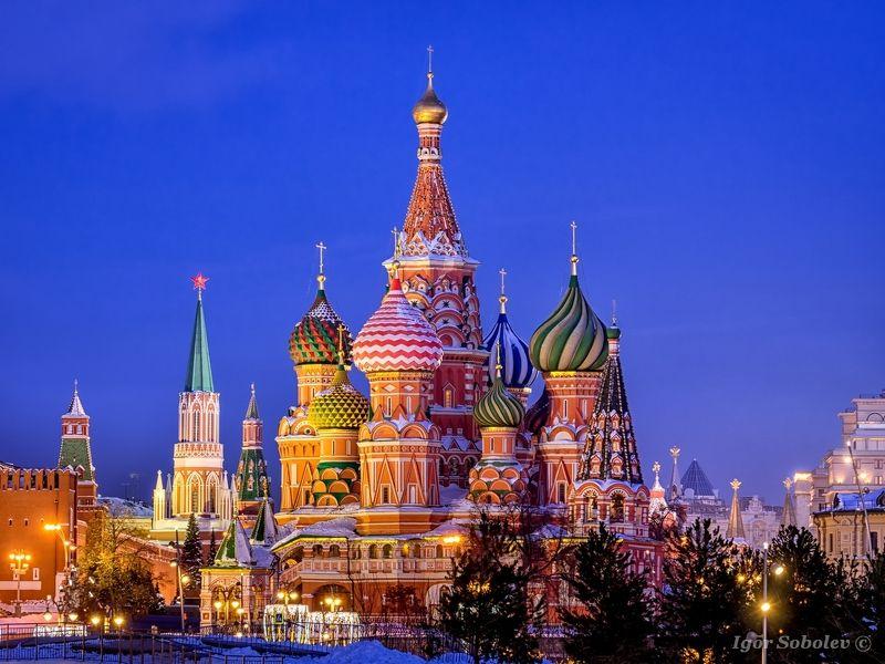 собор василия блаженного, москва, зима, утро, st. basil\'s cathedral, moscow, winter, morning Собор Василия Блаженногоphoto preview