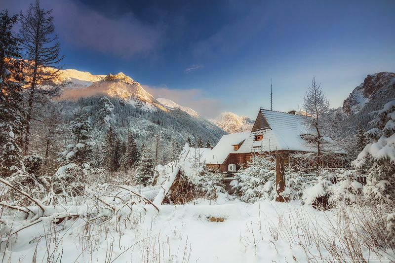 poland, polish, morskie, lake, mountains, sunset, sunrise, light, beautiful, amore, amazing, awesome, adventure, landscape Frosty sunsetphoto preview