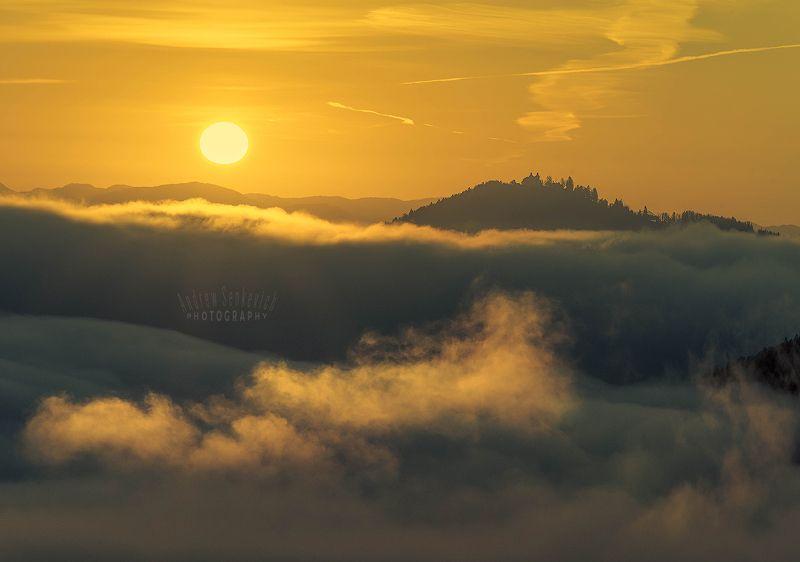 словения, ямник, осень Над туманомphoto preview