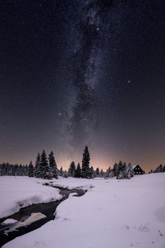 winter, snow, czech, chzechia, frozen, milkyway Winter fairy tale..photo preview