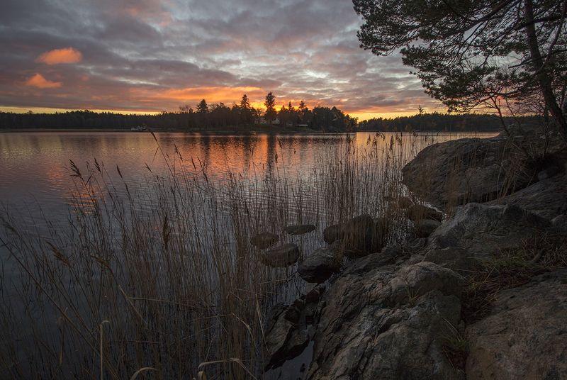 швеция Озеро вечернее 5photo preview