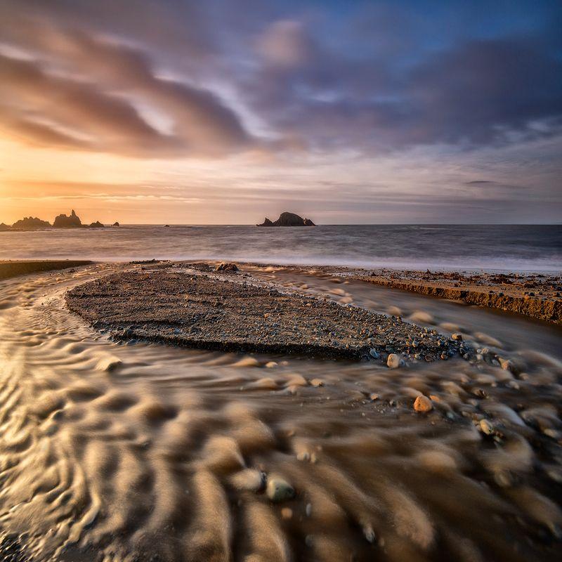 ireland, copper coast, copper, coast, atlantic, ocean, waterford, tramore, beach, sea, water, sky, sunset, sunrise Kilfarrasy Beachphoto preview