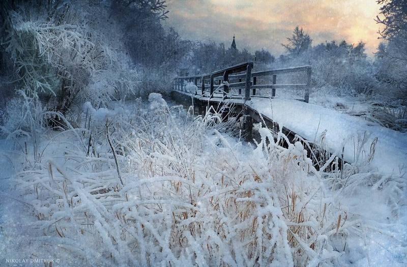 пейзаж снежный декабрь 2018. Холмогорыphoto preview