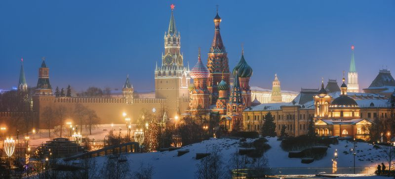 москва, зарядье, кремль Зимняя Москваphoto preview