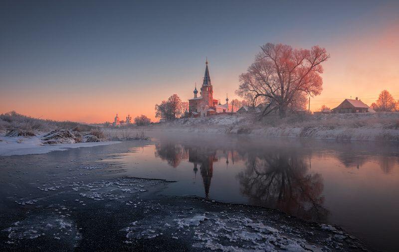 дунилово, рассвет, пейзаж, утро, мороз, утро, зима В тишине морозного рассветаphoto preview