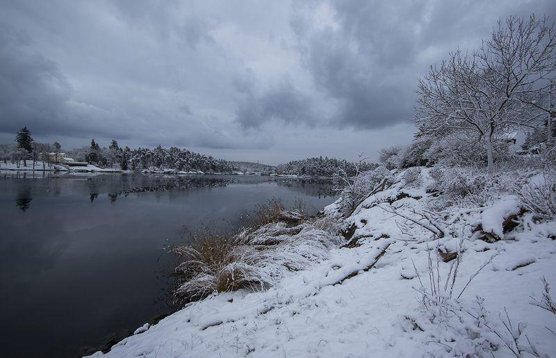 швеция Зимняя пасмурнаяphoto preview
