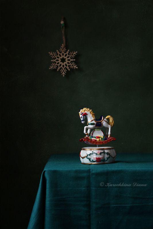 натюрморт, рождество, музыкальная лошадка Счастливого Рождества!photo preview