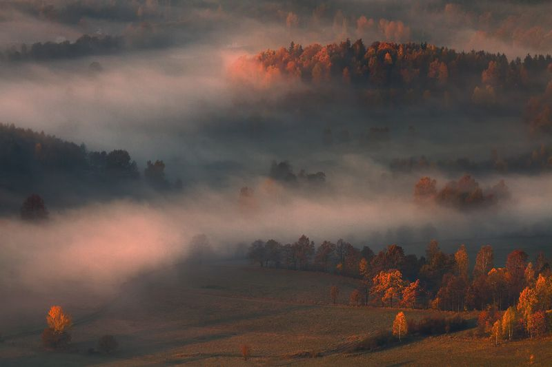 landscape,canon,mist,light,autumn Breath Of Autumn Air.photo preview