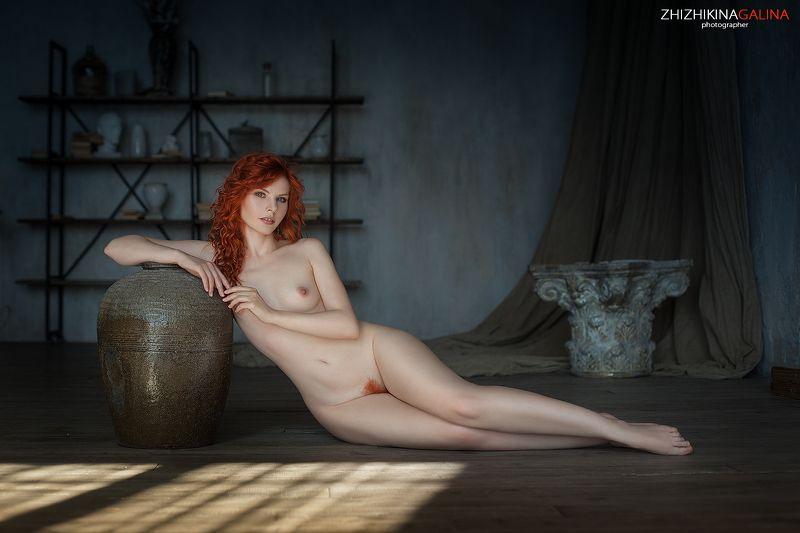 девушка, портрет, лицо, рыжая, руки, фотограф, портрет, артню, nude, portrait Рыжая Афродитаphoto preview