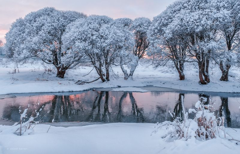 пейзаж, зима, вязьма Припорошил январь...photo preview