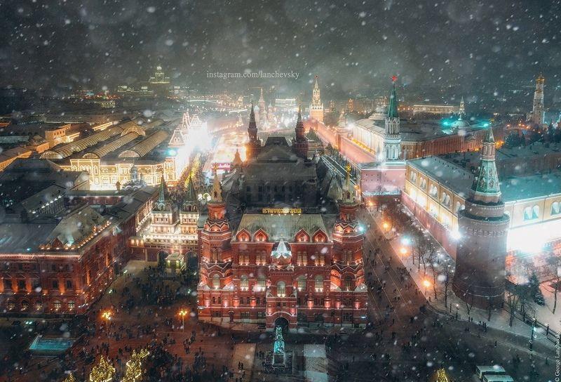Москва, Кремль, Россия, Высота Пролетая над Москвой.photo preview