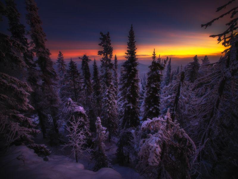 урал, горы, малиновая, белорецк, зима, уральскиегоры Подъем на Малиновуюphoto preview