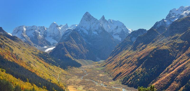горы осень домбай клухор гоначхир Осень в горах Кавказа,Клухорphoto preview