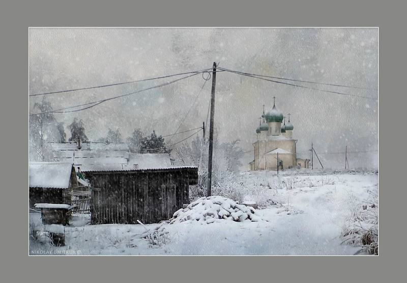 пейзаж снег на острове Куростров. дек 2018photo preview