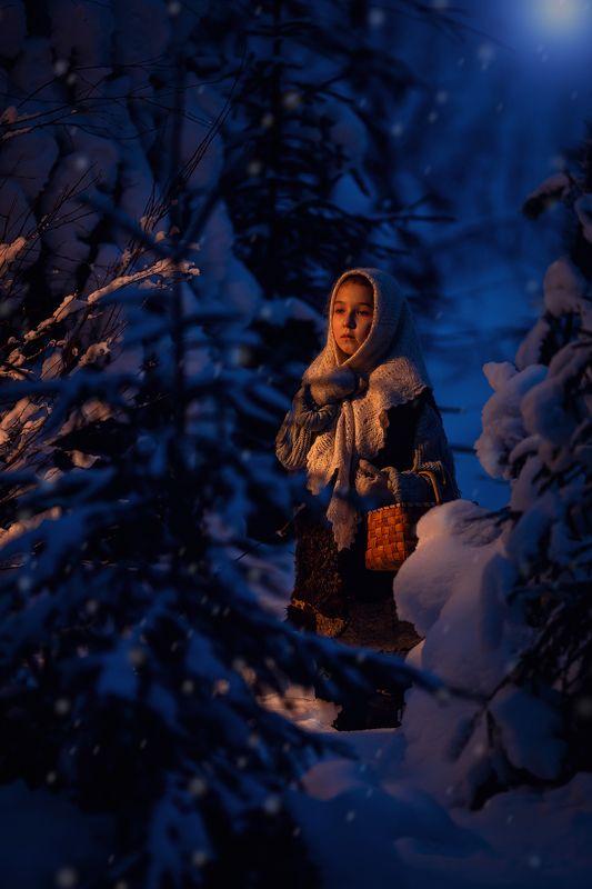 портрет красота девушка арт в поисках подснежниковphoto preview
