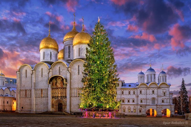 соборная площадь, кремль, москва, зима, cathedral square, kremlin, moscow, winter Со Старым Новым годом!photo preview