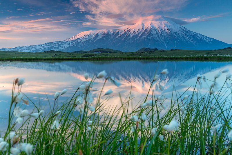 камчатка, вулкан, пейзаж, природа, путешествие, фототур, лето, рассвет, Летний рассветphoto preview