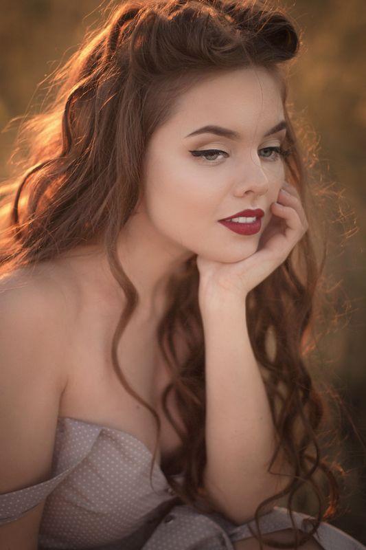 портрет девушка лето закат Summerphoto preview