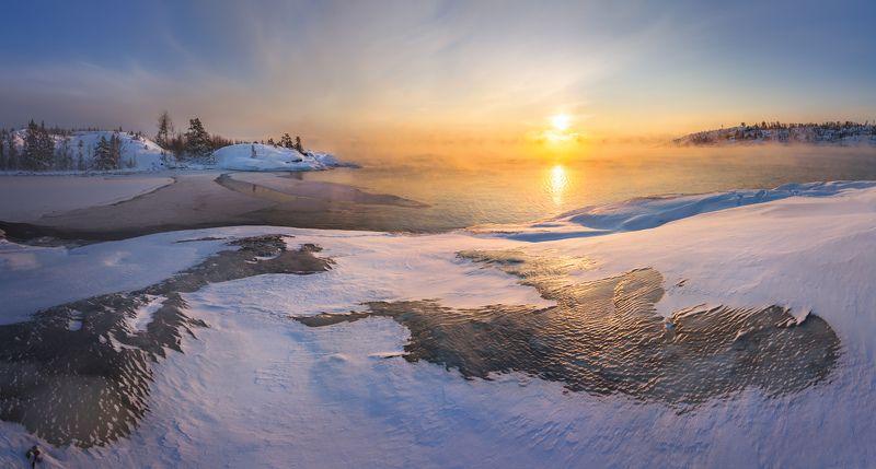 зимняя ладога, ладожское озеро, карелия, шхеры, лед \