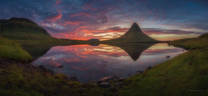 пейзаж, исландия, киркьюфетль Закат у вершины Киркьюфетль...photo preview